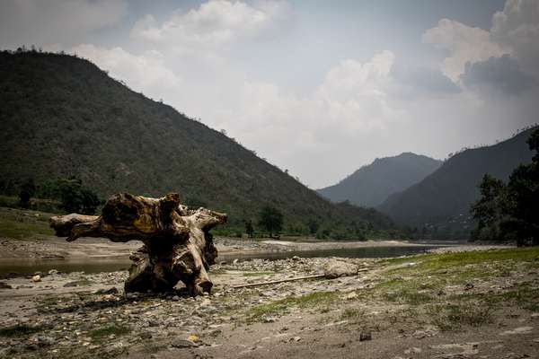 The valley of the Tamakoshi river, Nepal