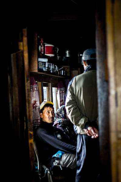 A guest at a tea lodge, Nepal