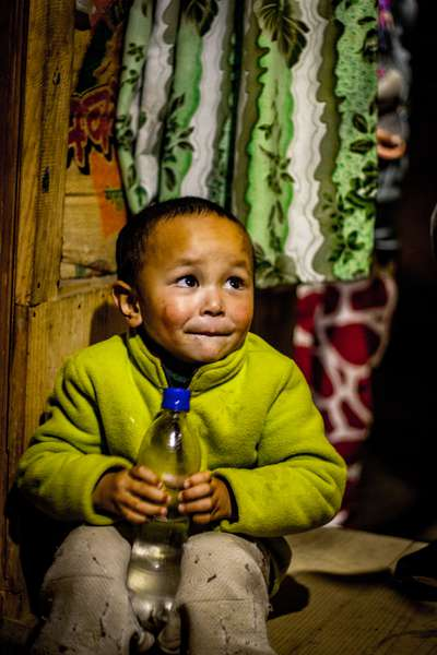 A child in Salleri, Nepal