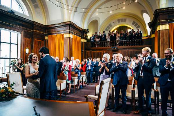 Relaxed urban wedding photography at The Old Church, Stoke Newington, London