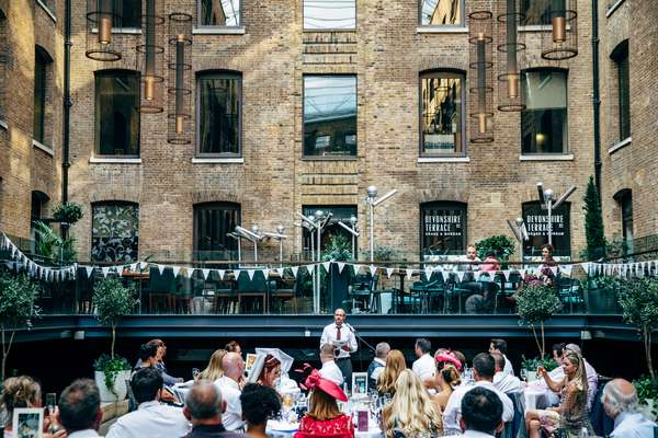 Relaxed urban wedding photography at Devonshire Terrace, London